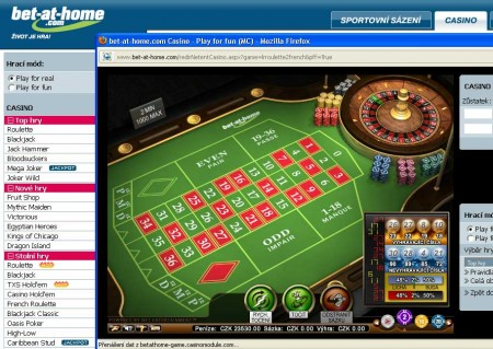 Bet-at-home ruleta v etin